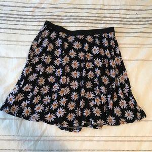 Floral Skater Girl Skirt